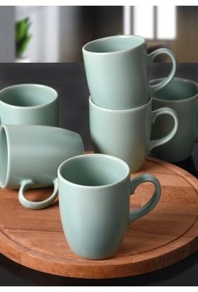 Keramika 6 adet 9 Cm Bulut KupAa Mat Açık Yeşil 971
