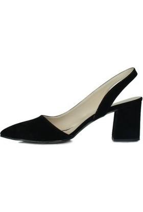 Loggalin 377201 008 Kadın Siyah Süet Ayakkabı