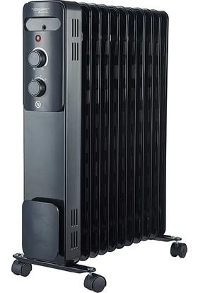 Voltomat 2300W 11 Dilim Yağlı Radyatör Siyah