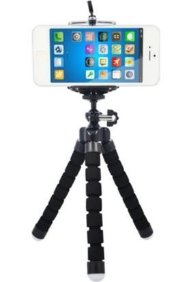 Azr Ahtapot Tripod Siyah Selfie Mini Esnek Masa Üstü Stand