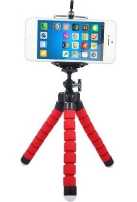 Azr Ahtapot Tripod Kırmızı Selfie Mini Esnek Masa Üstü Stand
