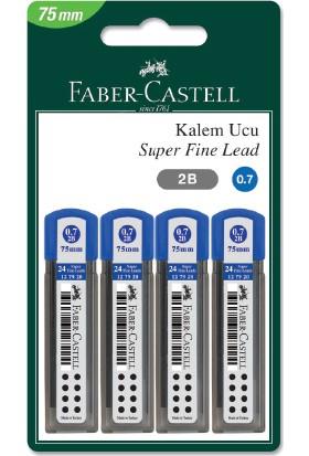 Faber-Castell Blister 4'Lü Super Fine Min, 2B 0.7 (75 Mm)