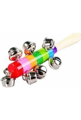 Okcu Hediyelik Ahşap Oyuncak Marakas Renkli
