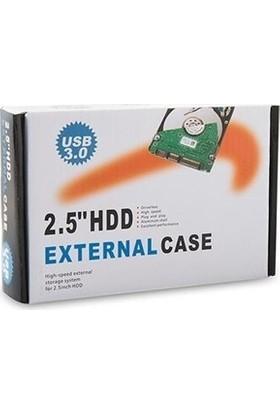 CresCent USB 3.0 External 2.5 İnç Sata Harici Harddisk Kutusu Deri Kılıflı