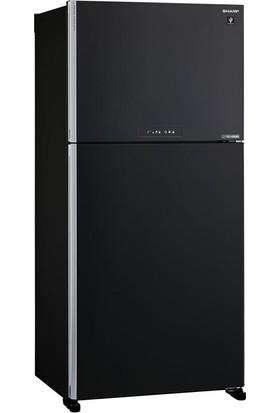 Sharp SJ-XG740M-BK Mega Plus Siyah Buzdolabı Siyah