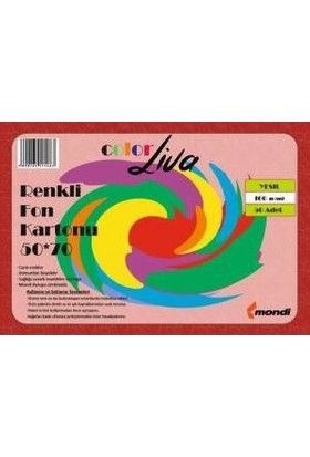 Color Liva Mondi Fon Kartonu Açık Yeşil 50X70 100'lü Paket