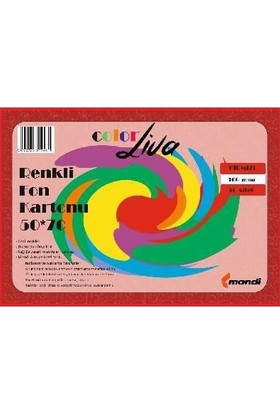 Color Liva Mondi Fon Kartonu Kırmızı 50X70 100'lü Paket