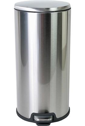 Primanova Cigo Paslanmaz Çelik Pedallı Çöp Kovası 20 Litre Çıkarılabilir İç Kovalı