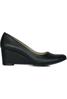 Loggalin 430001 014 Kadın Siyah Dolgu Topuk Ayakkabı