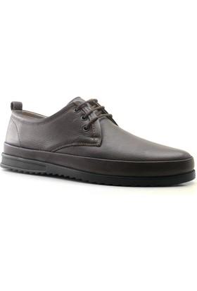 İzderi Shoes Hakiki Deri Kahverengi Ortopedik Günlük Erkek Ayakkabı