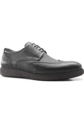 İzderi Shoes Hakiki Deri Siyah Günlük Erkek Ayakkabı