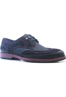İzderi Shoes Hakiki Deri Lacivert Günlük Erkek Ayakkabı