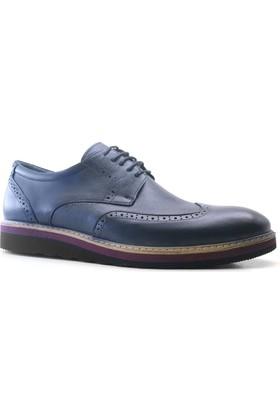 İzderi Shoes Hakiki Deri Lacivert Büyük Numara Günlük Erkek Ayakkabı