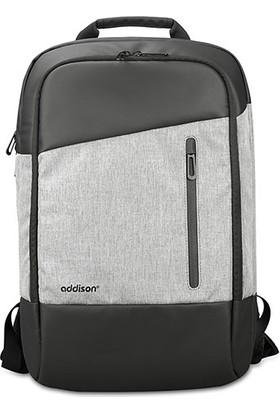 "Addison 301000 14"" Gri/Siyah Notebook Sırt Çantası"