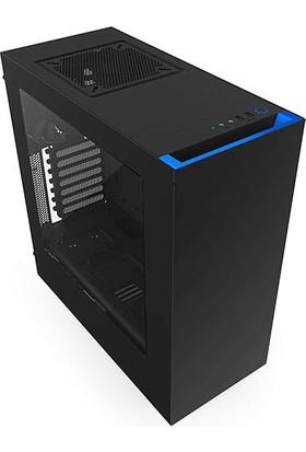 Nzxt CA-S340MB-GB Siyah/Mavi Mid Tower Kasa