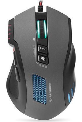 Rampage SMX-R80 USB Gri/Siyah 3200 DPI RGB Makrolu Oyuncu Mouse
