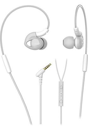 Snopy SN-RS51 Beyaz Mikrofonlu Kulakiçi Kulaklık