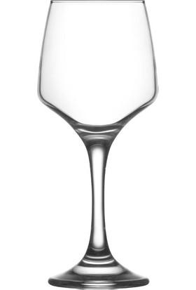 6'Lı Lal Şarap Kadehi
