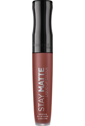 Rimmel Stay Matte Liquid Lip Colour Likit Ruj Nude 723 Troublemaker