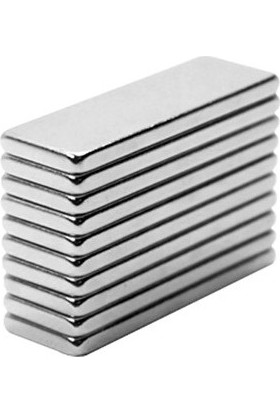 Neodyum Dikdörtgen Mıknatıs *28Mm X 9Mm X 1Mm* Çok Güçlü Kaliteli (10 Adet)