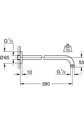 Grohe Rainshower® Tepe Duşu Dirseği Duvardan 380 mm - 28361000