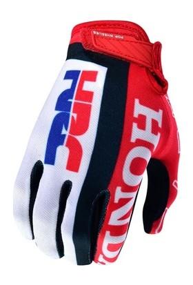 Enduro Motosiklet Eldiveni Honda L Kırmızı