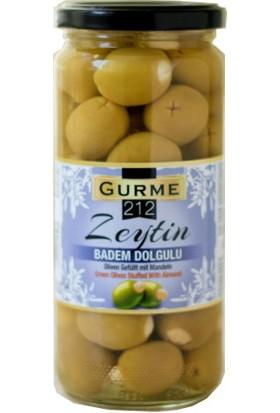 Gurme212 - Badem Dolgulu Yeşil Zeytin 500 ml