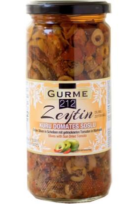 Gurme212 - Kuru Domates Soslu Yeşil Dilim Zeytin 480 gr