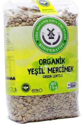 Tire Organik Kooperatifi Organik Yeşil Mercimek 1 kg