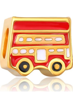 Zarbazen Altin Kaplama Gold Bus Bileklik Boncuğu
