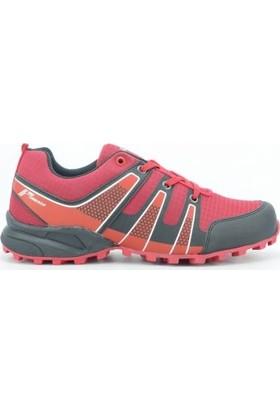 Pro Tracker 812200 Merdane Suni Deri Termo Bağcıklı Erkek Spor Ayakkabı Kırmızı Siyah