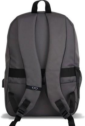 My Valice Smart Bag Specta Usb Şarj Girişli Akıllı Sırt Çantası Gri