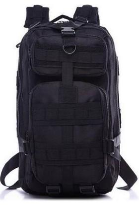 Askeri Tactical Çanta Asker Dağcı Sırt Çantası Siyah 30 Litre