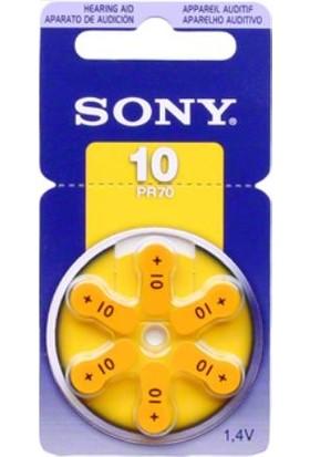 Sony 10 Numara Pr70 İsitme Cihazı Pili 6 Lı