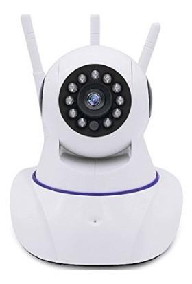 Bebbee HD 360 Derece Wifi IP Kamera Gece Görüş 3 Antenli Güvenlik ve Bebek İzleme Kamerası