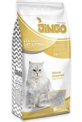 Jingo Naturel Bentonit Kedi Kumu İnce Taneli 10 L