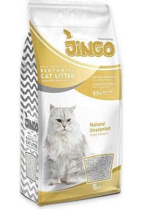 Jingo Naturel Bentonit Kedi Kumu İnce Taneli 5 L