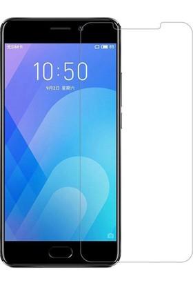 Case 4U Meizu M6S Cam Ekran Koruyucu - Blue Nano