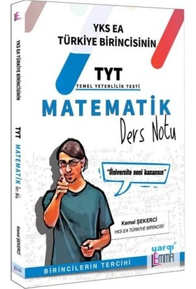 Yargı Lemma YKS TYT Matematik Ders Notu - Kemal Şekerci