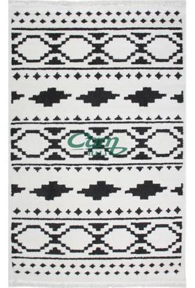 Çam Halı Çamhalı Rocco Rc 01 White/Black