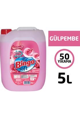 Bingo Soft Gülpembe Çamaşır Yumuşatıcısı 5L