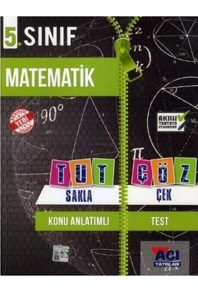 Açı Yayınları 5. Sınıf Matematik Tut Sakla Çek Çöz