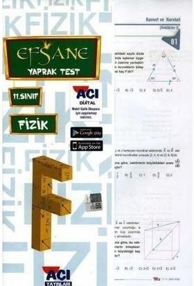 Açı Yayınları 11.Sınıf Fizik Efsane Yaprak Test