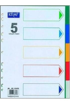 Kraf Ayraç A4 5 Renk
