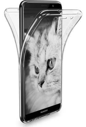 Microsonic Huawei Mate 10 Pro Kılıf 6 tarafı tam full koruma 360 Clear Soft Şeffaf