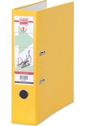 Manu 2030 Plastik Klasör Geniş Sarı