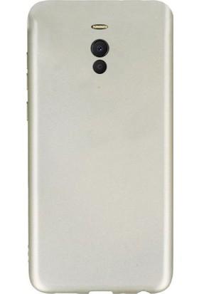 Gpack Meizu M6 Note Kılıf Premier Silikon Arka Koruma + Nano Glass Gold