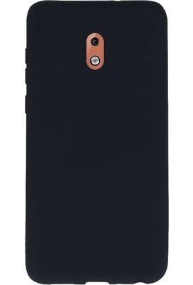 Gpack Nokia 3.1 Kılıfları Kılıf Premier Silikon Arka Koruma + Nano Glass Siyah