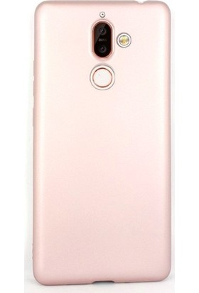 Gpack Nokia 7 Plus Kılıfları Kılıf Premier Silikon Koruma + Nano Glass Bronz