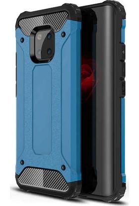 KNY Huawei Mate 20 Pro Kılıf Çift Katmanlı Armour Case + Nano Cam Ekran Koruyucu
